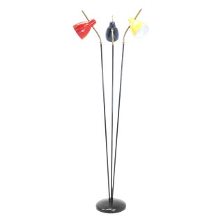 Italian Three Post/Arm Floor Lamp For Sale