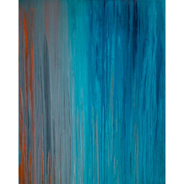 2010s Teodora Guererra, 'Drenched in Teal' Painting, 2016 For Sale - Image 5 of 5