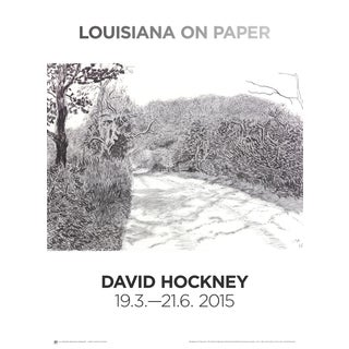 2015 David Hockney 'Woldgate, 6-7 May From the Arrival of Spring in 2013' Pop Art Gray Denmark Offset Lithograph For Sale