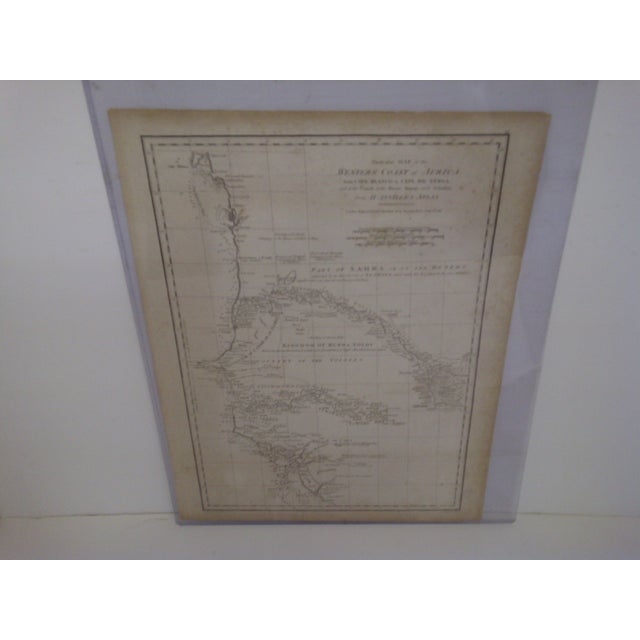 African Vintage 1788 Map of the Western African Coast For Sale - Image 3 of 8