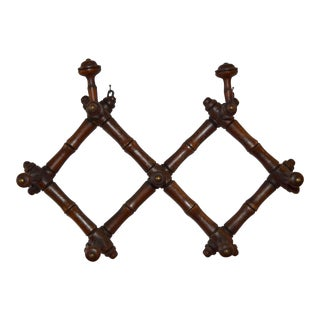19th-C. French Carved Coat/Hat Rack For Sale