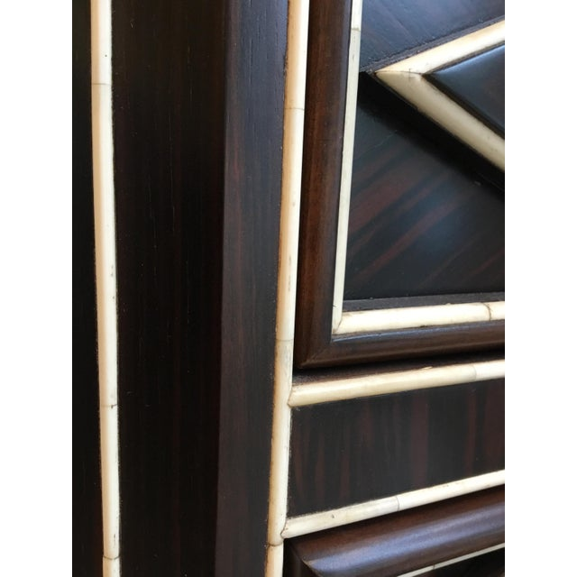 Brown Art Deco Style Chest By: Century For Sale - Image 8 of 9