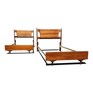 Mid Century Modern Twin Bed - Headboards. (A Pair Available) For Sale