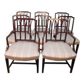 Sheridan Styled Mahogany Dining Chairs- Set of 8 For Sale