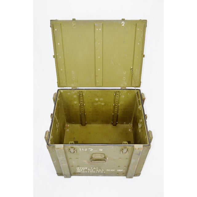 United States Army AAA Gun Site Equipment Crate. This is a Remarkable Piece of U.S. Military History manufactured by...