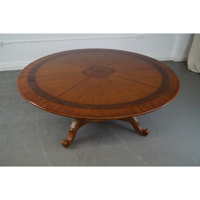Henredon Louis XV Mahogany Inlaid Dining Table - Image 3 of 10