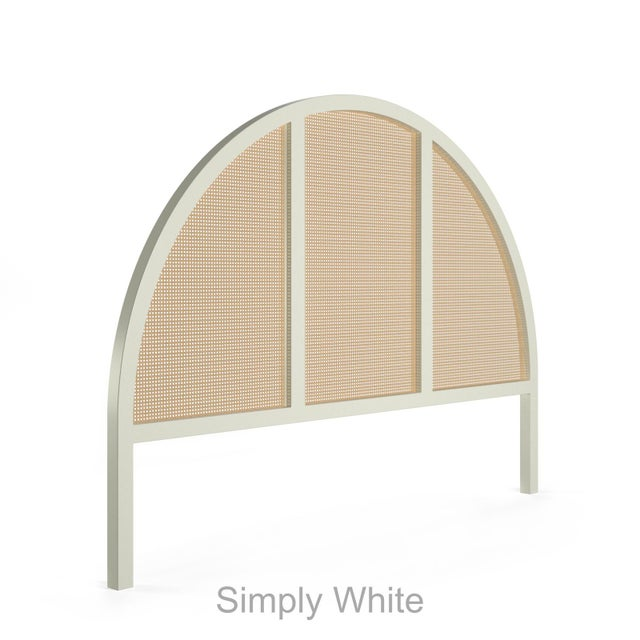 Eva Headboard - King - Simply White For Sale - Image 4 of 4