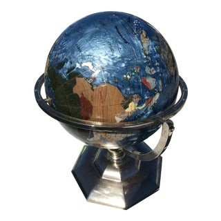 Mid Century Modern Inlaid Globe For Sale
