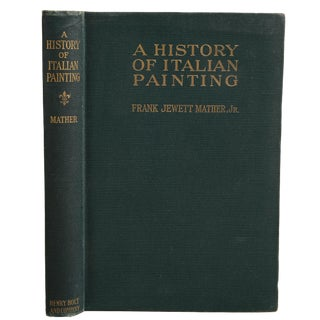 """1938 """"A History of Italian Painting"""" Collectible Book For Sale"""