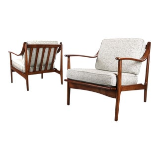 Mid Century Modern Architectural Lounge Chairs- A Pair For Sale