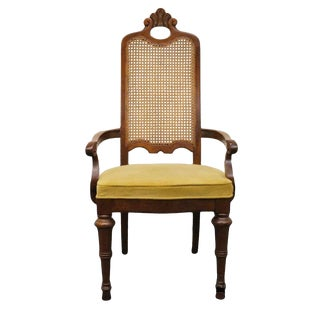 Late 20th Century Vintage Drexel Heritage Estorada Southwestern Style Dining Arm Chair For Sale