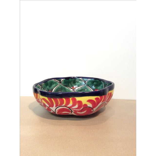Mexican Hand Painted Bowl - Image 2 of 5
