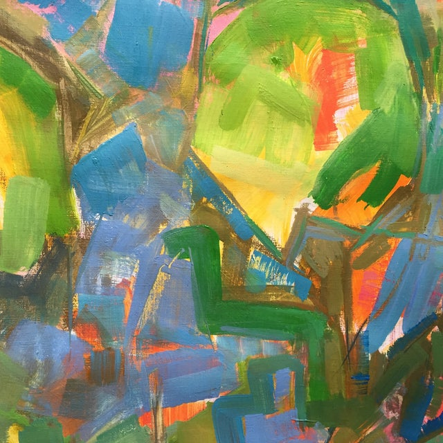 """""""Water Lilies"""" Painting by Trixie Pitts 30""""x54"""""""" - Image 3 of 3"""