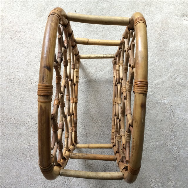 Vintage Bamboo Wine Rack - Image 9 of 11