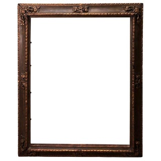 Museum Quality Gilt Gesso Frame With Embossed Designs For Sale