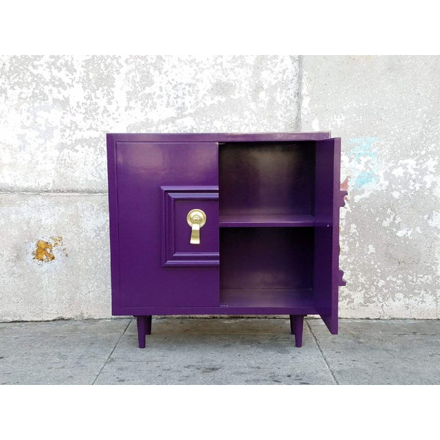 Hollywood Regency Deep Purple Vintage Lacquered Bar Cabinet - Image 3 of 8