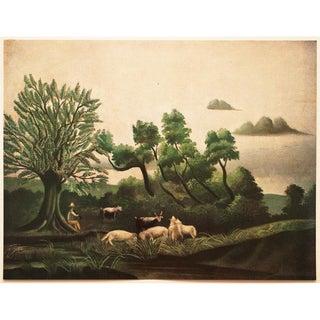 1951 Original Rousseau, Le Chevrier Photogravure From Paris For Sale