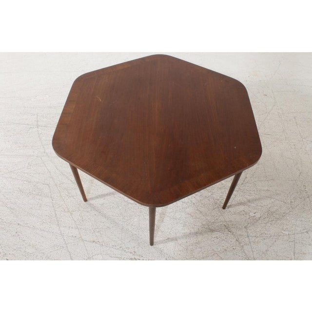Vintage Mid-Century Danish Modern Rosewood Nesting Coffee Table - 7 Pieces For Sale - Image 4 of 8