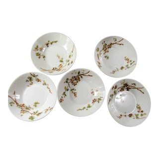 Early 20th Century French Limoges Fruit Bowls- Set of 5 For Sale