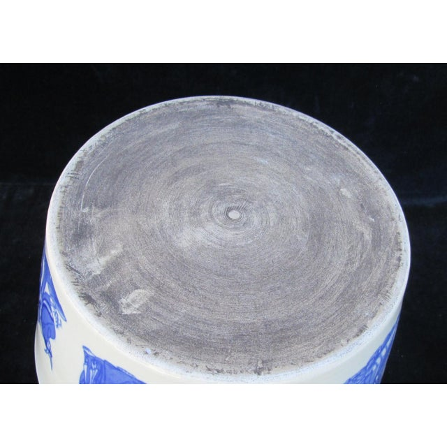 Chinese Blue & White Porcelain 8 Immortal Pot/Bowl - Image 5 of 7