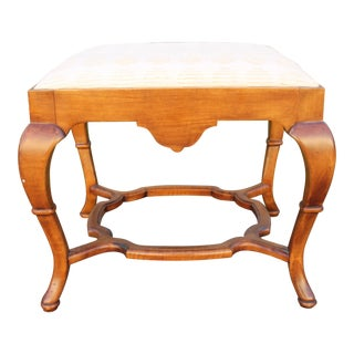 1960s Traditional Style Carved Foot Stool For Sale