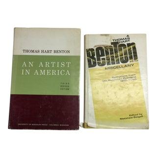 1968 and 1971 Vintage Thomas Hart Benton Books - Set of 2