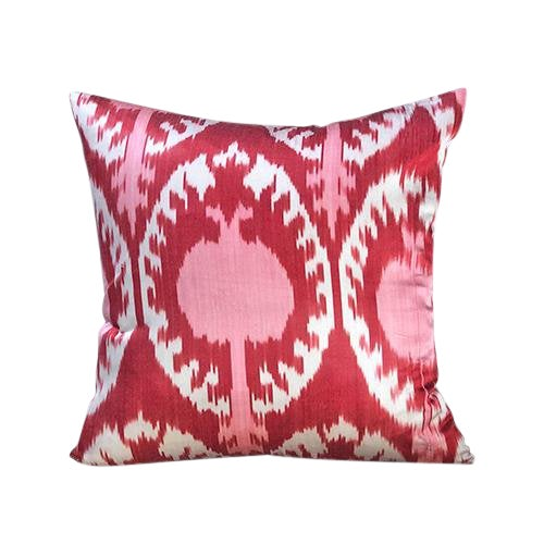 Kim Salmela Turkish Silk Ikat Square Throw Pillow For Sale