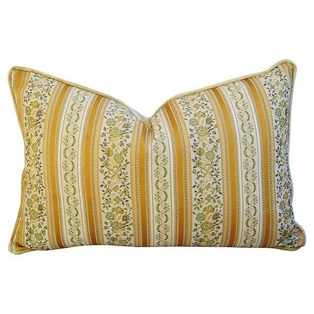 Designer Italian Brocatelle Silk Pillows - a Pair - Image 6 of 7