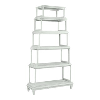 Celerie Kemble for Casa Cosima Jules Etagere, Oystershell For Sale