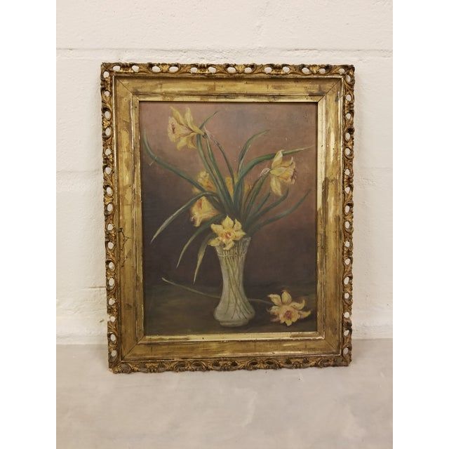 Victorian Still Life Floral Painting For Sale - Image 4 of 4