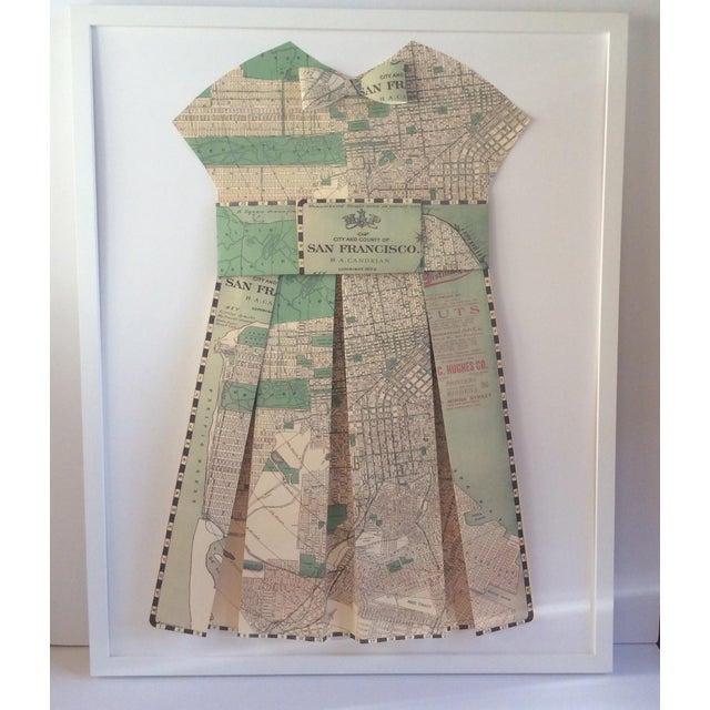 Framed 1903 San Francisco City Street Paper Art Dress - Image 2 of 5