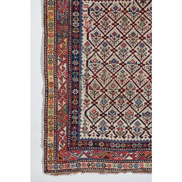 Mid 19th Century Shirvan 19th Century Caucasian Rug - 3′11″ × 5′6″ For Sale - Image 5 of 9