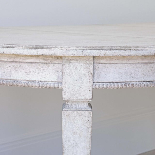 Birch Märta Gustavian Extension Dining Table For Sale - Image 7 of 11
