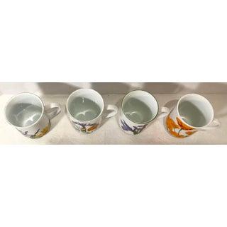 Vintage Japanese Botanical Ceramic Mugs - Set of 4 Preview