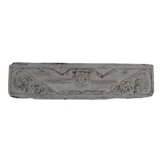 19th Century French Carved Wood Plaque For Sale