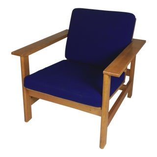 1980s Frederecia Furniture Soren Holst Danish Oak Lounge/Easy Chair For Sale