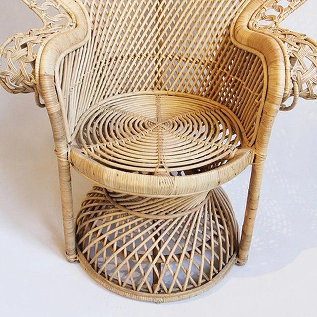 Rattan Loop Peacock Chair - Image 4 of 5
