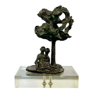 Mid Century Modern Bronze Art Sculpture by Arthur Schneider 1970s For Sale