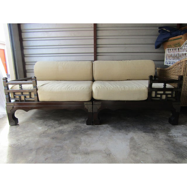 1970s Vintage Asian Style Day Bed For Sale - Image 10 of 10