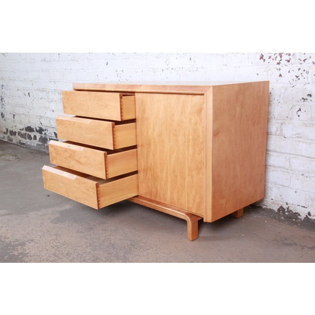 Brown Edmond Spence Swedish Modern Maple Sideboard Credenza, Newly Refinished For Sale - Image 8 of 13