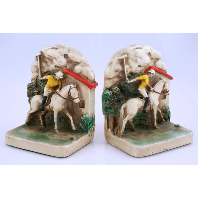 1930s Newport Polo Bookends - A Pair - Image 2 of 3