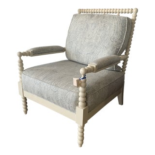 Modern Paisley Spindle Chair For Sale