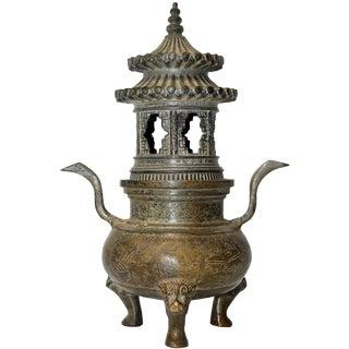 Ming Style Bronze Incense Burner, Chinese Temple Censer Model For Sale