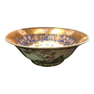 19th Century Edme Samson & Cie Porcelain Hunting Scene Bowl For Sale