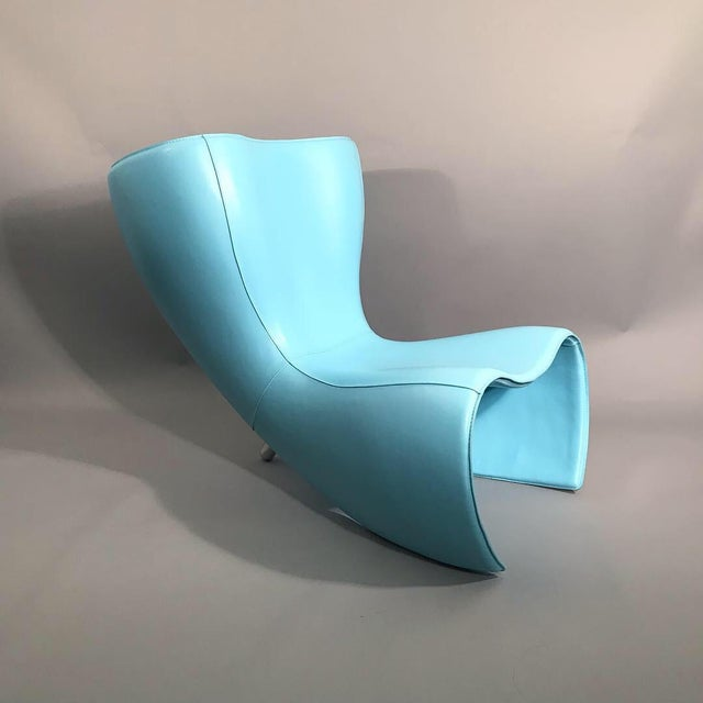 Blue 25th Anniversary Marc Newson Felt Chair For Sale - Image 8 of 8