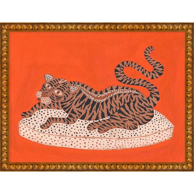 """Contemporary Medium """"Andrew the Big Cat"""" Print by Willa Heart, 26"""" X 20"""" For Sale - Image 3 of 3"""