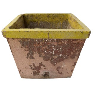French Painted Cement Planter For Sale