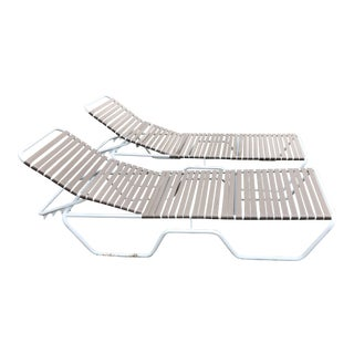 Tropitone Stacking Patio Pool Chaise Chairs - A Pair