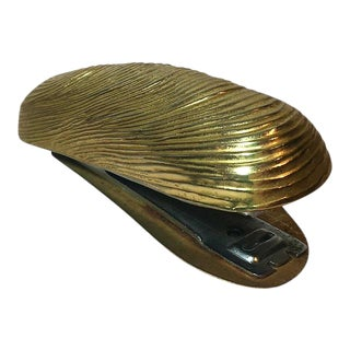 Brass Shell Shaped Desk Stapler For Sale