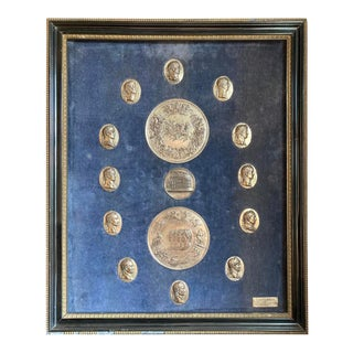 19th C Italian Grand Tour Medals of Roman Emperors and the Roman Colosseum For Sale